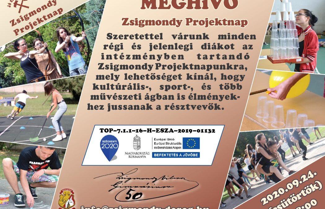 """Meghívó a Zsigmondy50! jelenlegi és öregdiákok találkozásai """"Zsigmondy projektnap"""" eseményre"""